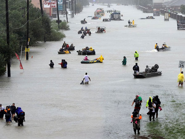 Texas Residents Ordered Evacuate As Harvey Floods Cause Havoc