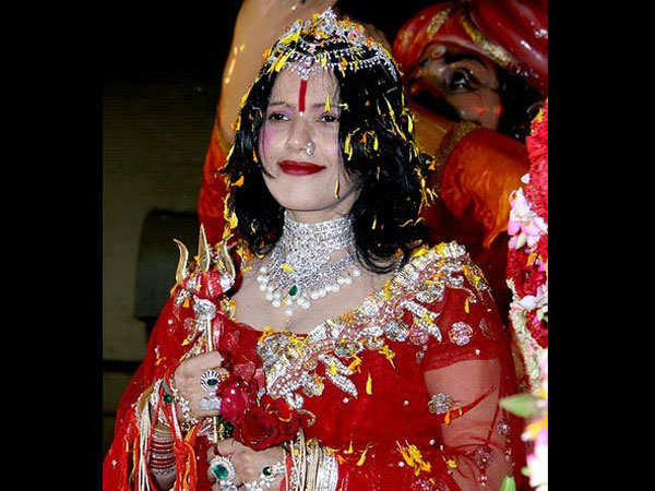 Behave yourself, shut your mouth, Radhe Maa tells journalist
