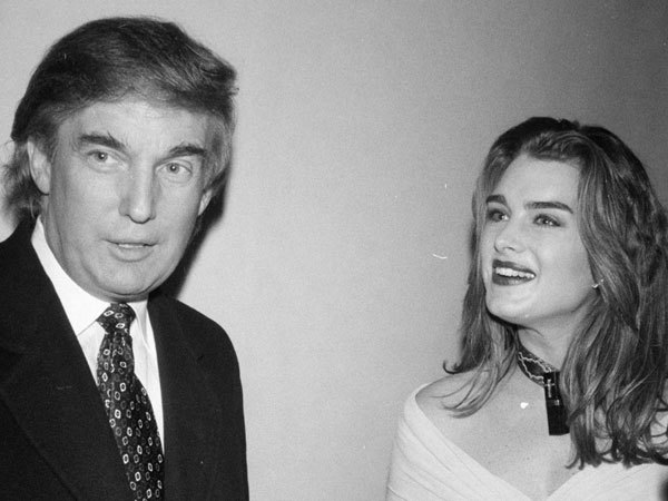 I M America S Richest Man Brooke Shields Reveals Awful Pick Up Line Donald Trump