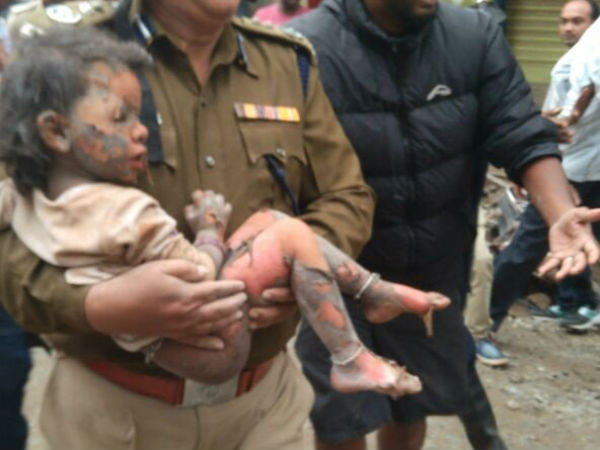 Bengaluru Building Collapse 3 Years Child Rescued Alive From Debris