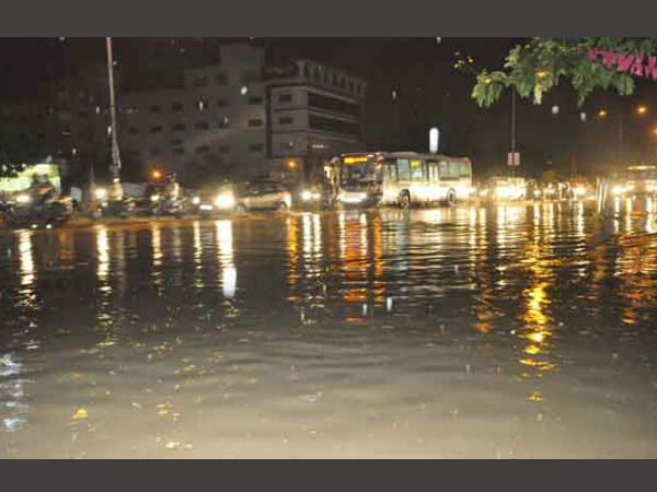 Heavy rains in Hyderabad on Friday evening