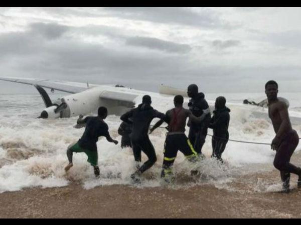 Ivory Coast Crash Four Die When Cargo Plane Plunges Into Sea
