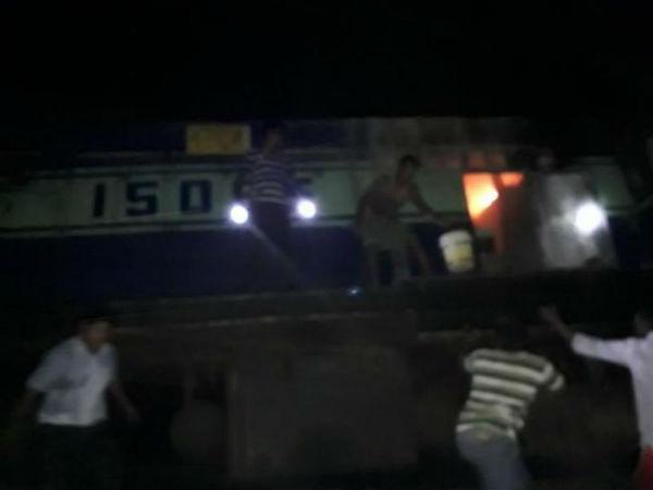 Massive Fire Breaks In Machilipatnam Express