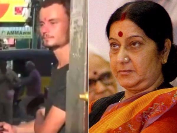 Russian Man Found Begging At Kanchipuram Temple Cops Sushma Swaraj