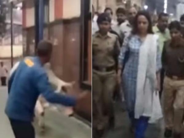 Bull Strays Into Mathura Railway Station As Bjp Mp Hema Malini Pays Suprise