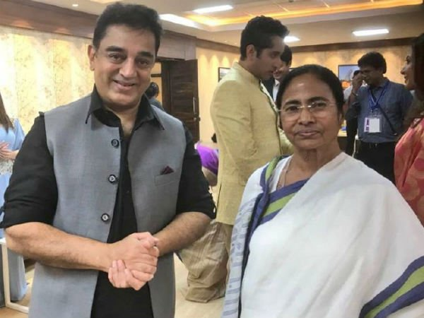 Actor Kamal Haasan says he is big fan WB CM Mamta Banerjee