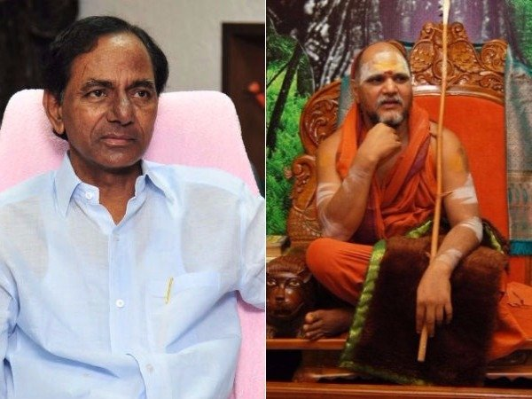 KCR, leader with guts, says Swamy Swaroopanandendra Saraswati