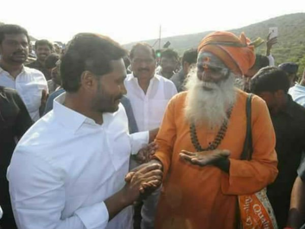 YS Jagan Chitchat with a Swamiji, Post in Facebook goes Viral