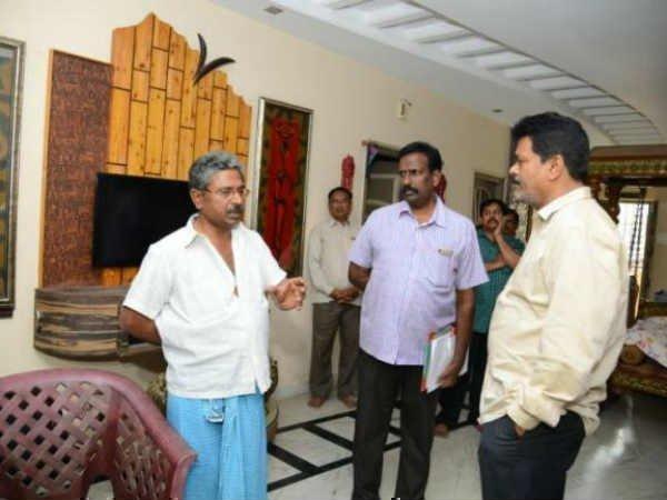Acb Raids On Ap Endowment Officer Chandrasekhar Azad House