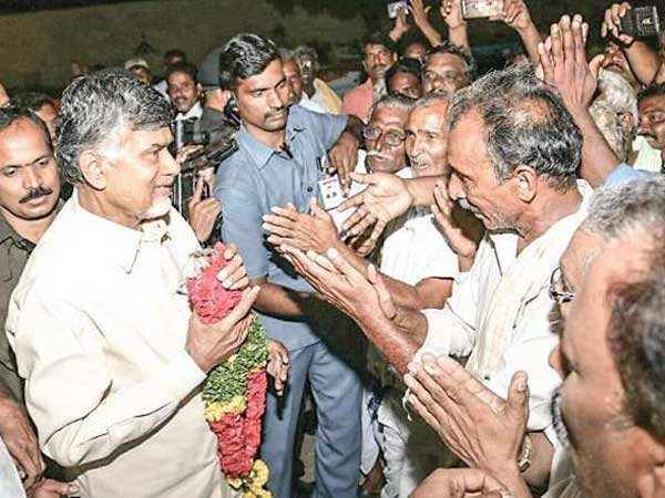 CRDA Farmers met Chandrababu ... request for registrations ...