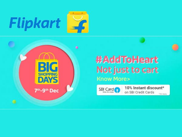 Flipkart Big Shopping Days Sale! Upto 70% Off On All Products*