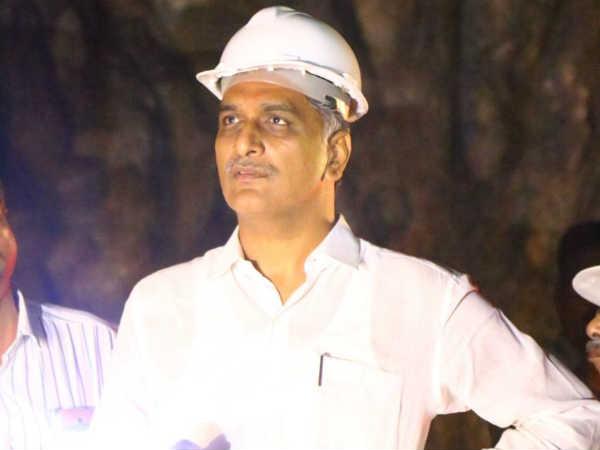 Harish Rao Visits Sundilla Barrage Till 3am