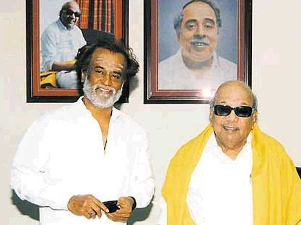 Image result for rajinikanth karunanidhi