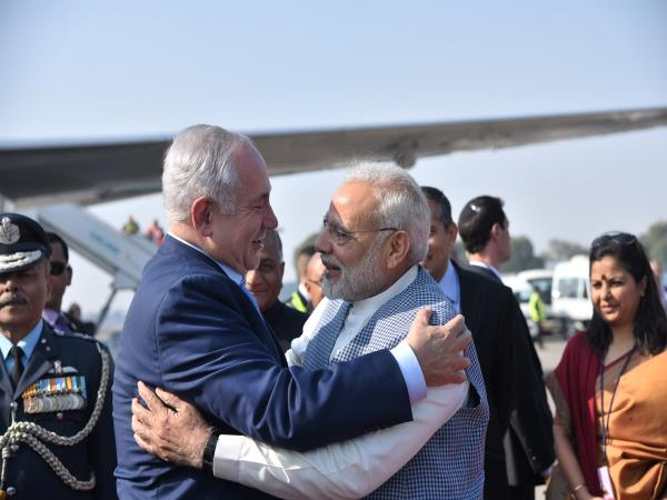 PM Modi breaks protocol, receives Benjamin Netanyahu at airport with a hug