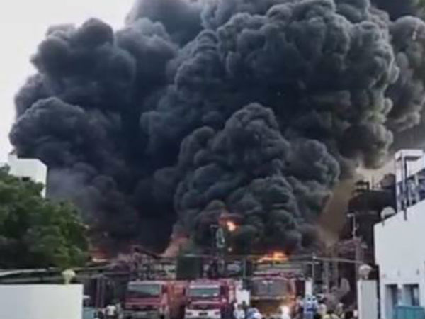 Huge Fire Breaks Out At Chemical Plant Near Vadodara In Gujarat