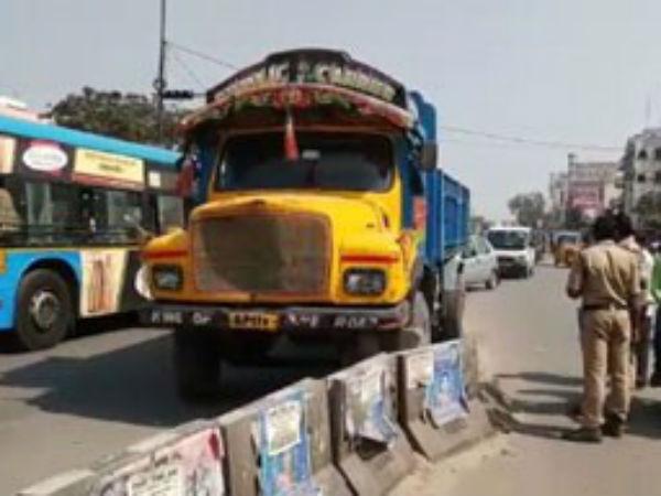Three Die As Sand Lorry Collides Bikes Hyderabad