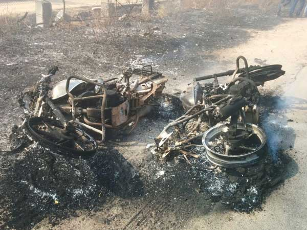 Major fire accident in medchal district