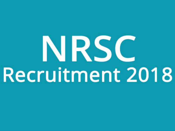 Nrsc Recruitment 2018 Apply 37 Various Posts