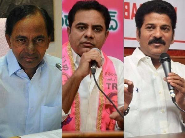 కేటీఆర్ కన్నా కేసీఆర్ పాపులర్: కాంగ్రెసులో రేవంత్ రెడ్డి టాప్