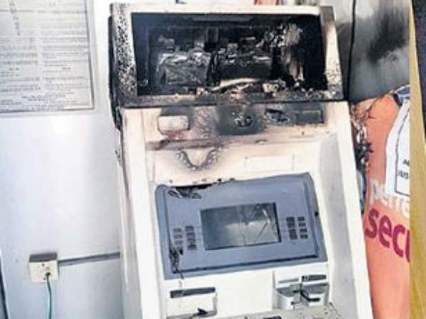 Man sets ATM on fire in Hyderabad, leaves behind 17-page letter on 'humanity'