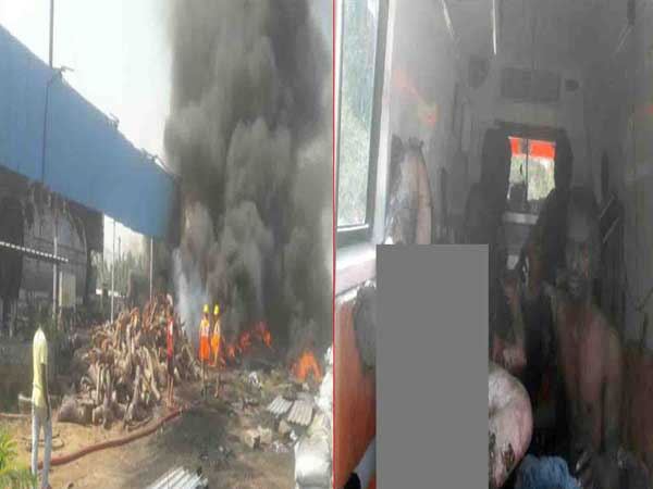 Major fire breaks out at tyre company in Anakapalli