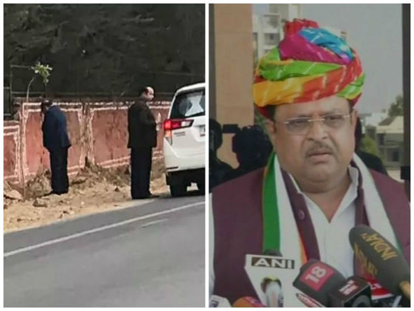 Picture of Rajasthan Minister Urinating on Jaipur Walls Goes Viral