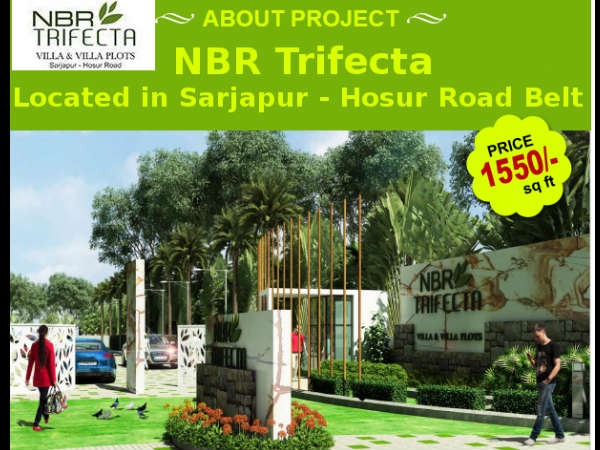 Plots starting from Rs1550/- per Sqft. NBR Trifecta located in Sarjapur - Hosur road Belt
