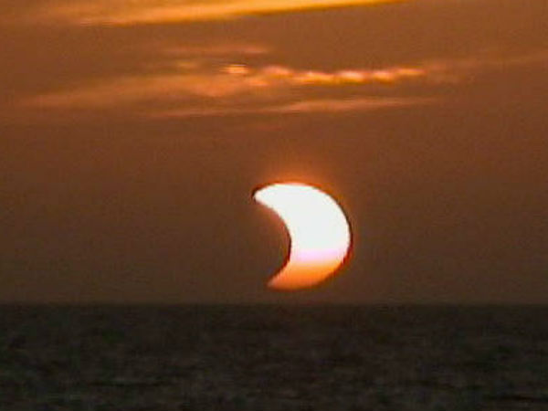 partial solar eclipse on February 15