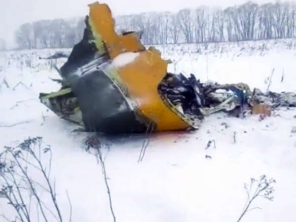Workers find both data recorders at Russian plane crash site