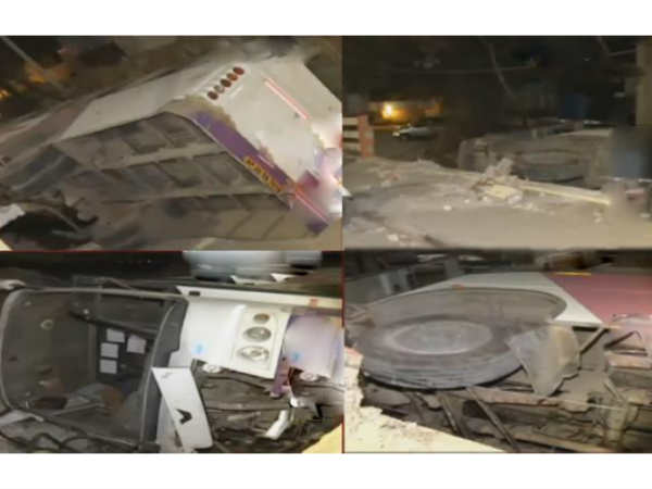 bus falls of moosapet flyover in hyderabad