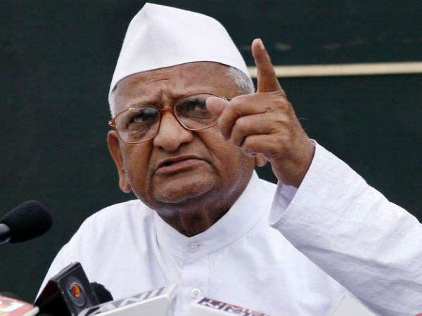 Anna Hazare writes to PM for space in Delhi to organise agitation