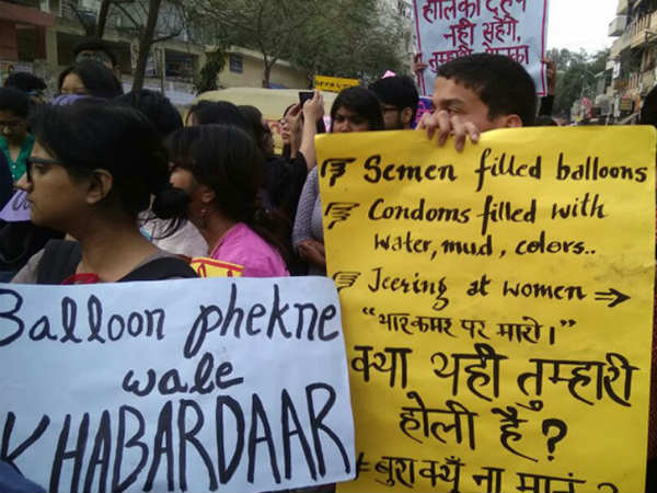 Protests outside Delhi Police HQ after semen-filled balloons thrown at DU students