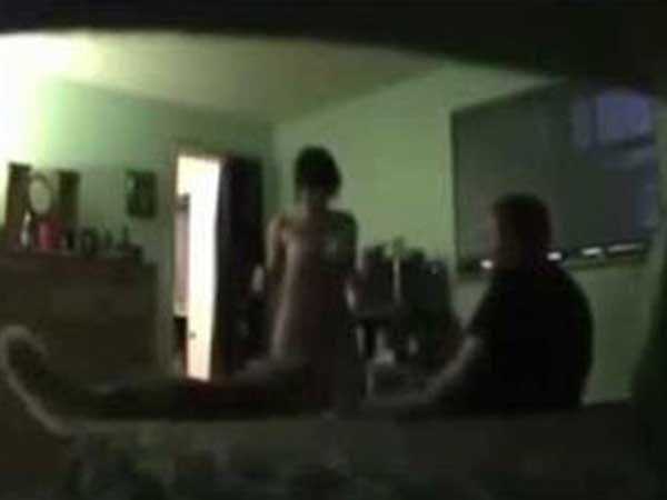 Husband Catches wife in objectionable position, with the help of CCTV Footage