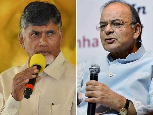 Chandrababu Naidu unhappy with Arun Jaitley statement