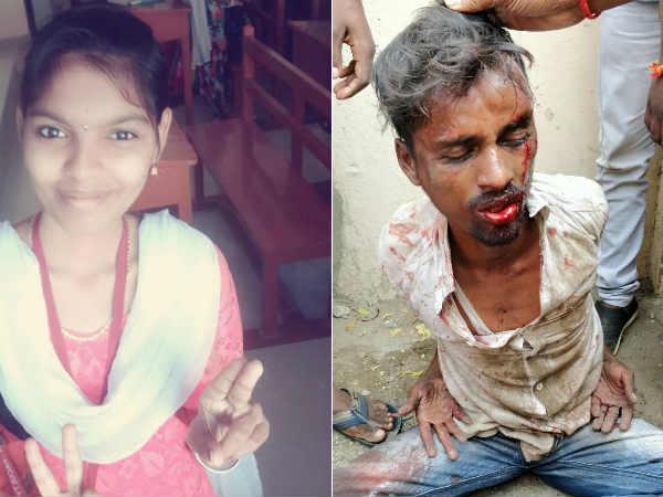Girl Stabbed Death Broad Daylight Near College Entrance Chennai