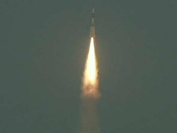 ISROs GSLV F08 launch carrying the GSAT-6A communication satellite