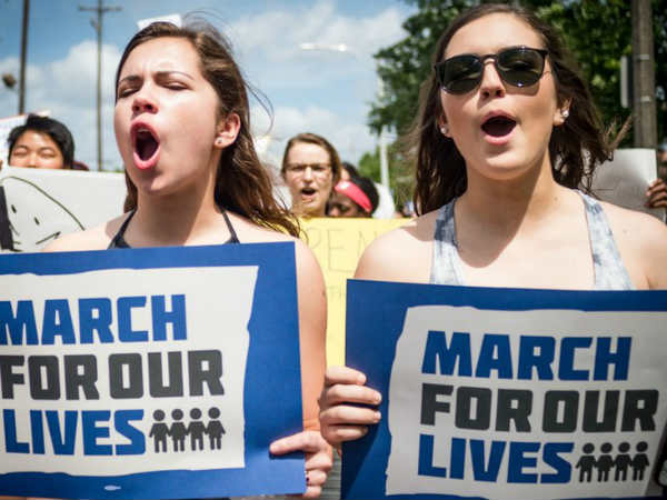 March For Our Lives- Huge gun-control rallies sweep US