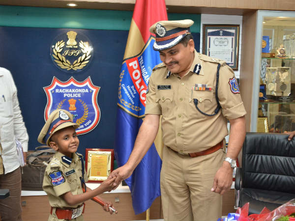 Class 2 student made Commissioner of Rachakonda Police Commissionerate for a day