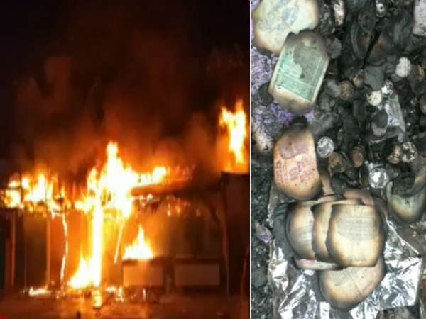 Fire Accident in Linen Center at Vijayawada