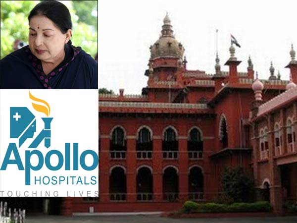 Madras High Court Seeks Report From Apollo On Jayalalithaa Samples