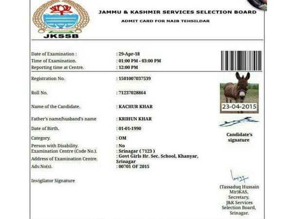 Donkey gets admit card but will it appear for exam, Wonders twitter