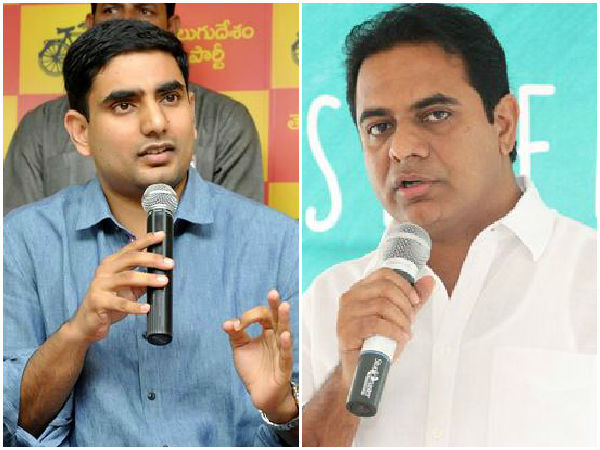 KTR and Naralokesh reacts on Jaitley comments over currency shortage