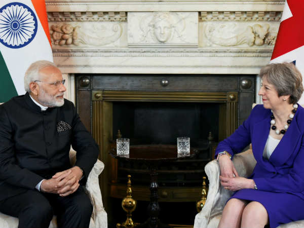 Modi Raises Issue Economic Offenders During Meeting With May