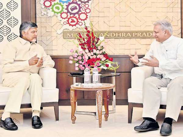 IB Director Rajiv jain Meets CM Chandrababu