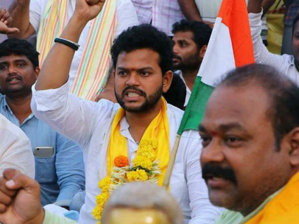 rammohan naidu fast for special status and railway zone