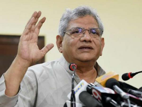 Sitaram Yechury takes on BJP and RSS in CPIM public meeting