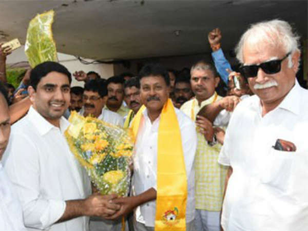 YCP Leader Satrucharla Chandrasekhar raju joined in TDP