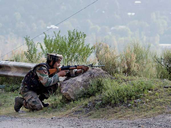 J&K: Encounter underway between terrorists & Army at Drabgam