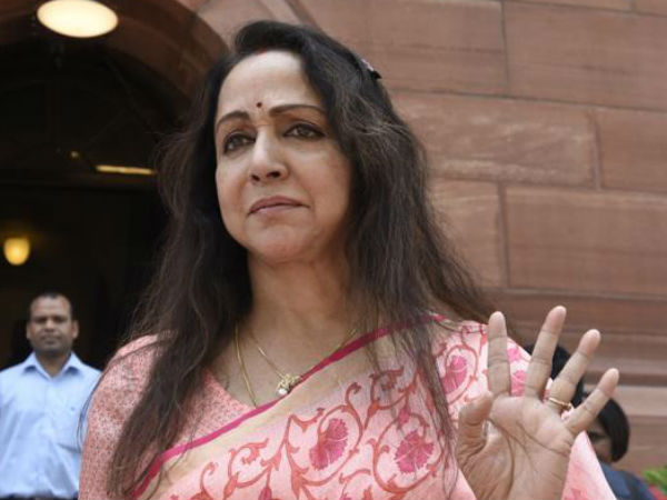 Hema Malini has a narrow escape as tree falls in front of her convoy in Mathura