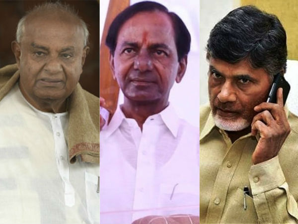 JDS leaders phone to Chandrababu and KCR